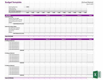 Download our School Budget Preparation Template today!